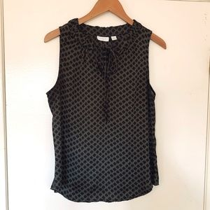 New York & COMPANY Olive Green and Black Top